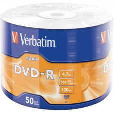 Диск DVD-R Verbatim 4.7 Gb, 16x, Shrink (50), DataLife (50/600) (43791)